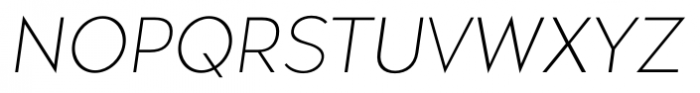 Okojo Pro Light Italic Font UPPERCASE
