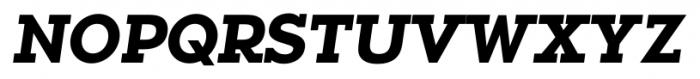 Okojo Slab Pro Bold Italic Font UPPERCASE