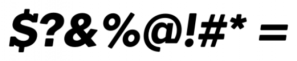 Okojo Slab Pro Display Bold Italic Font OTHER CHARS