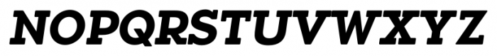 Okojo Slab Pro Display Bold Italic Font UPPERCASE