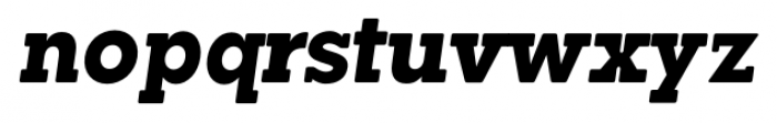 Okojo Slab Pro Display Bold Italic Font LOWERCASE