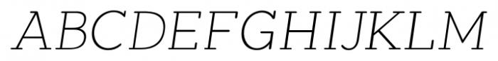 Okojo Slab Pro Display Light Italic Font UPPERCASE
