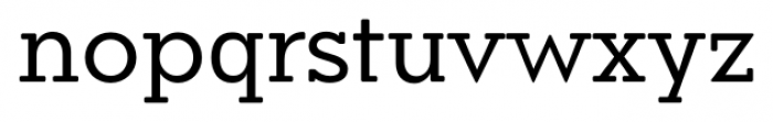 Okojo Slab Pro Display Regular Font LOWERCASE