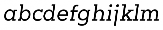 Okojo Slab Pro Italic Font LOWERCASE