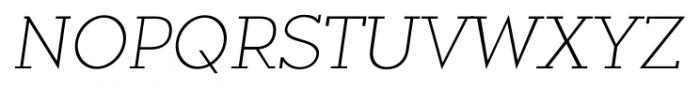 Okojo Slab Pro Light Italic Font UPPERCASE