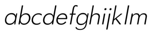 OkojoDisplay Light Italic Font LOWERCASE