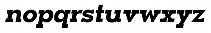 OkojoSlab Bold Italic Font LOWERCASE