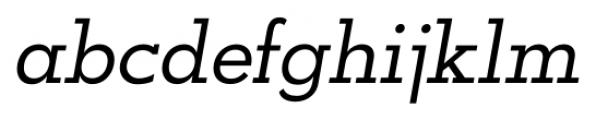 OkojoSlab Italic Font LOWERCASE