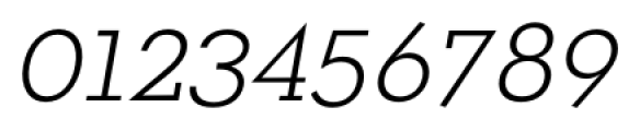 OkojoSlab Light Italic Font OTHER CHARS