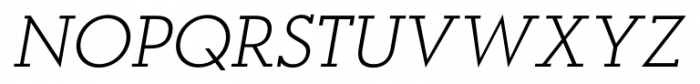 OkojoSlab Light Italic Font UPPERCASE