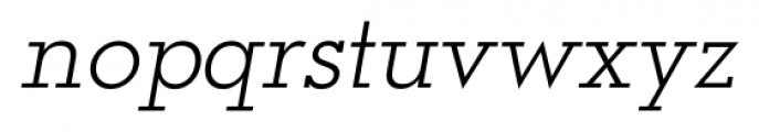 OkojoSlab Light Italic Font LOWERCASE