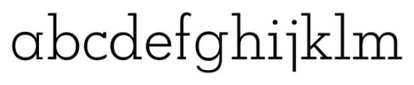 OkojoSlab Light Font LOWERCASE