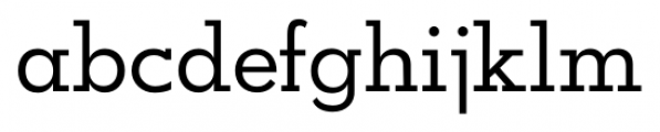 OkojoSlab Regular Font LOWERCASE