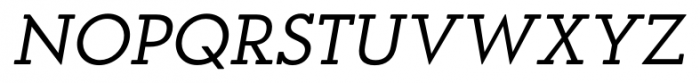 OkojoSlabDisplay Italic Font UPPERCASE