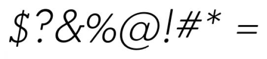 OkojoSlabDisplay Light Italic Font OTHER CHARS