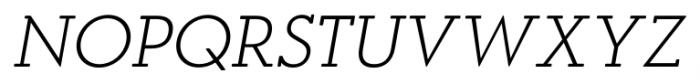 OkojoSlabDisplay Light Italic Font UPPERCASE