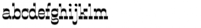 OK Corral Lined Font LOWERCASE