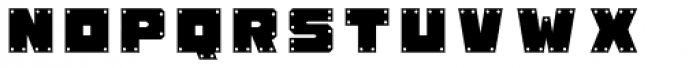 Okay A Gunmetal Font UPPERCASE