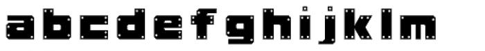 Okay A Gunmetal Font LOWERCASE