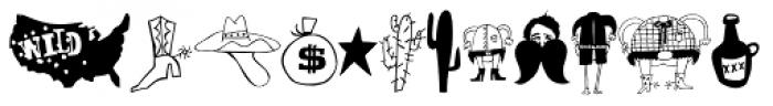 Oklahoma Pro Scrawls Font LOWERCASE