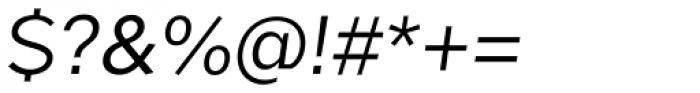 Okojo Pro Italic Font OTHER CHARS
