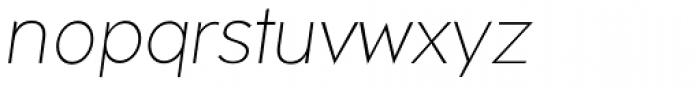 Okojo Pro Light Italic Font LOWERCASE