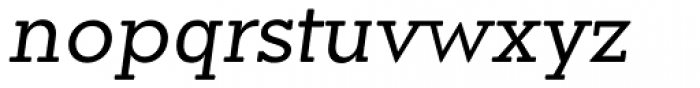 Okojo Slab Pro Display Italic Font LOWERCASE
