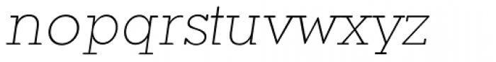 Okojo Slab Pro Display Light Italic Font LOWERCASE