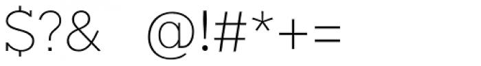 Okojo Slab Pro Light Font OTHER CHARS