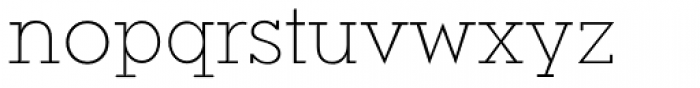 Okojo Slab Pro Light Font LOWERCASE