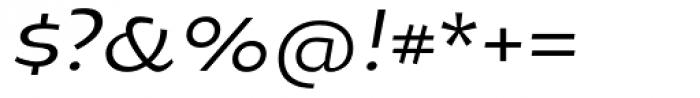 Oksana Greek Alt Demi Bold Italic Font OTHER CHARS