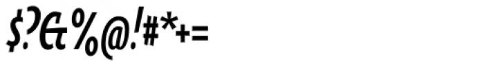 Oksana Sans Compressed Bold Italic Font OTHER CHARS