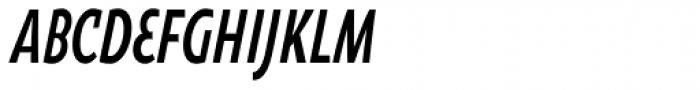 Oksana Sans Compressed Bold Italic Font UPPERCASE