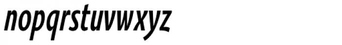 Oksana Sans Compressed Bold Italic Font LOWERCASE