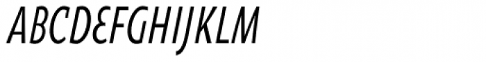Oksana Sans Compressed DemiBold Italic Font UPPERCASE