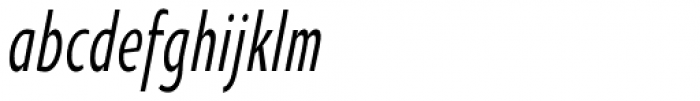 Oksana Sans Compressed DemiBold Italic Font LOWERCASE