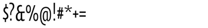 Oksana Sans Compressed DemiBold Font OTHER CHARS