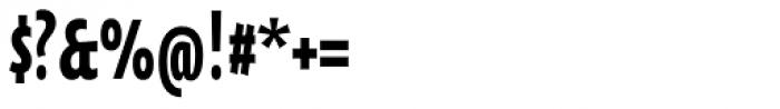 Oksana Sans Compressed Heavy Font OTHER CHARS