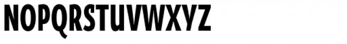 Oksana Sans Compressed Heavy Font UPPERCASE