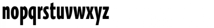 Oksana Sans Compressed Heavy Font LOWERCASE