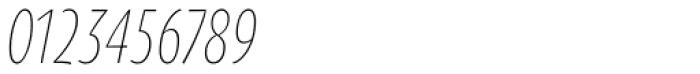 Oksana Sans Compressed Light Italic Font OTHER CHARS