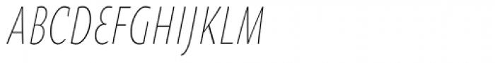 Oksana Sans Compressed Light Italic Font UPPERCASE
