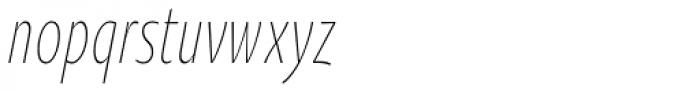 Oksana Sans Compressed Light Italic Font LOWERCASE