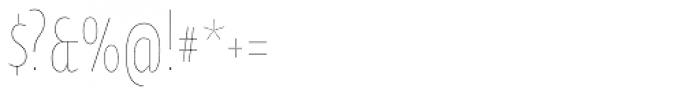 Oksana Sans Compressed Thin Font OTHER CHARS