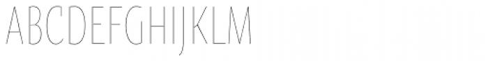 Oksana Sans Compressed Thin Font UPPERCASE