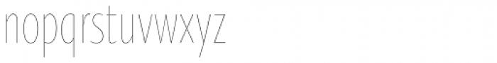Oksana Sans Compressed Thin Font LOWERCASE