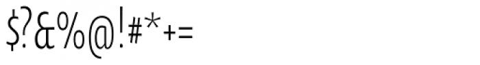 Oksana Sans Compressed Font OTHER CHARS