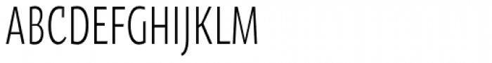 Oksana Sans Compressed Font UPPERCASE