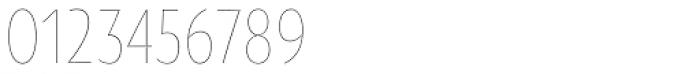 Oksana Sans Condensed Thin Font OTHER CHARS