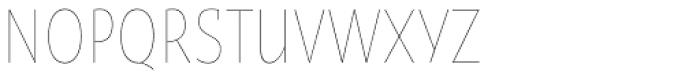 Oksana Sans Condensed Thin Font UPPERCASE